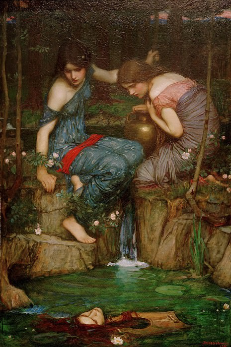 Nymphs Finding the Head of Orpheus. John William Waterhouse