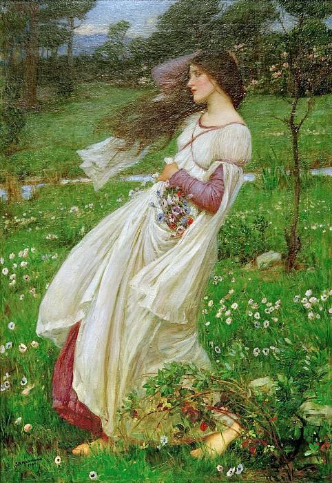 Windflowers. John William Waterhouse