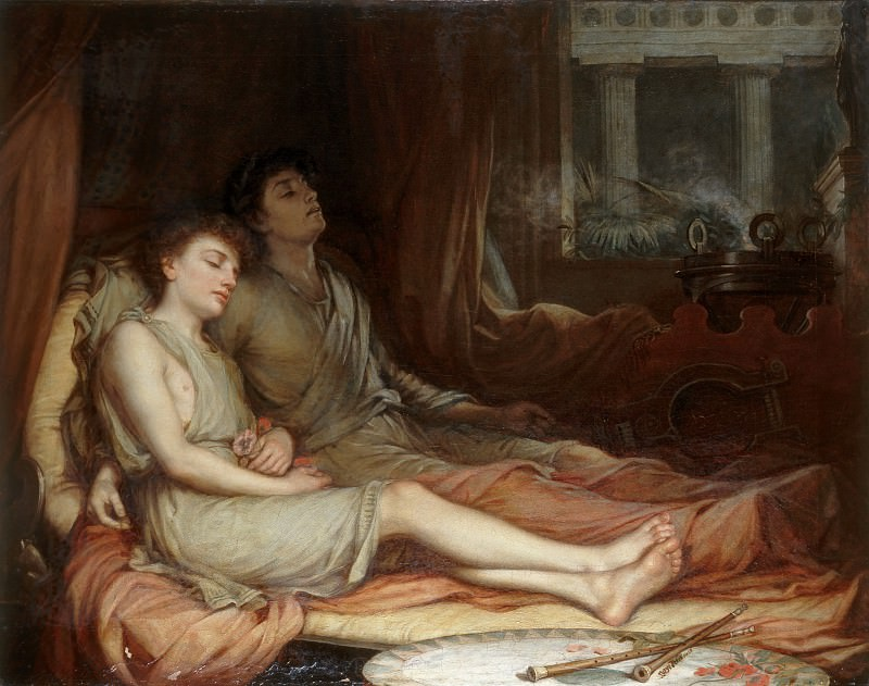 Sleep and his Half-Brother Death. John William Waterhouse