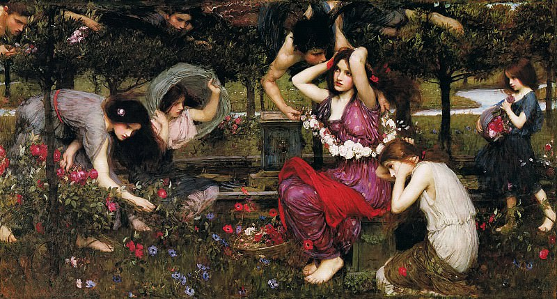 Flora and the Zephyrs. John William Waterhouse