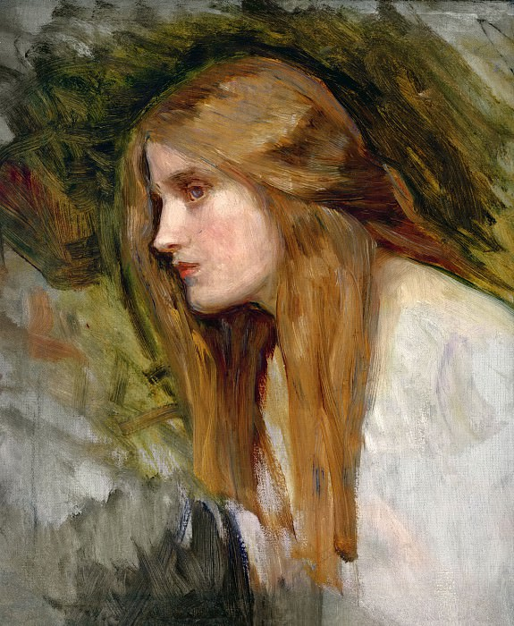 Head of a Girl. John William Waterhouse
