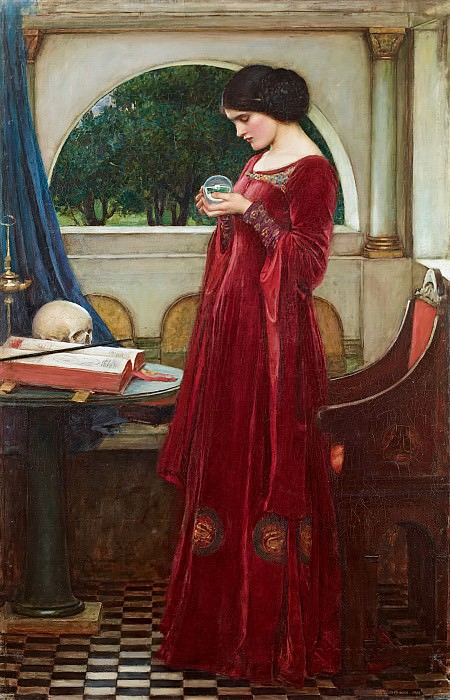 The Crystal Ball. John William Waterhouse