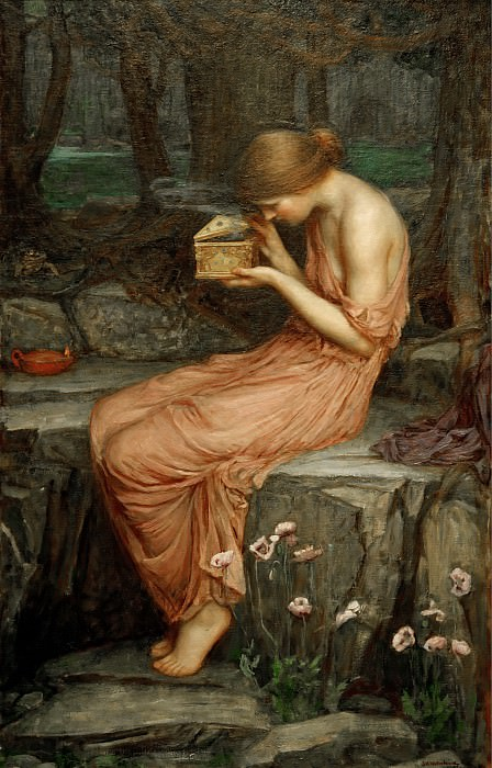 Psyche Opening the Golden Box. John William Waterhouse