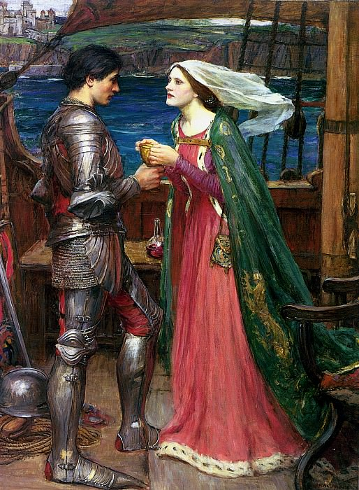 Tristan and Isolde Sharing the Potion. John William Waterhouse