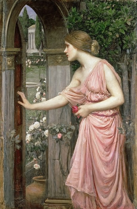 Psyche Entering Cupids Garden. John William Waterhouse