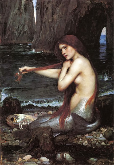 A mermaid. John William Waterhouse