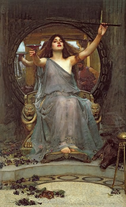 Circe Offering the Cup to Ulysses. John William Waterhouse