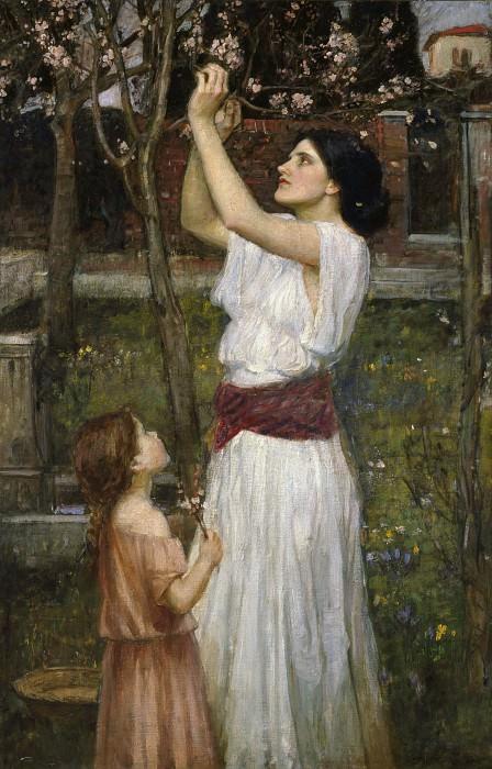 Сбор цветков миндаля. Джон Уильям Уотерхаус