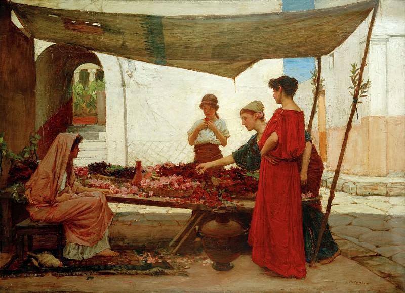 Цветочная лавка. Джон Уильям Уотерхаус