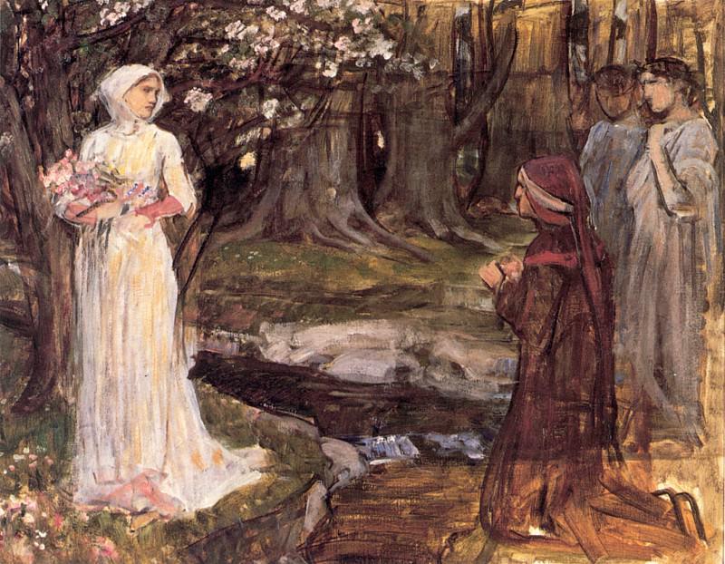 Dante and Beatrice. John William Waterhouse