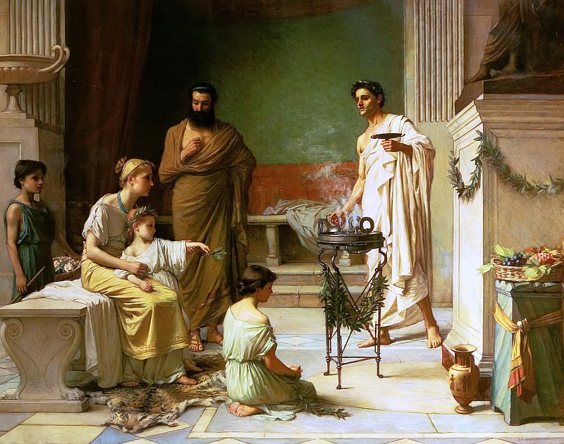 A sick Child Brought into the Temple of Aesculapius. John William Waterhouse