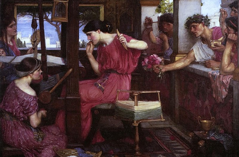 Waterhouse Penelope and the Suitors. John William Waterhouse