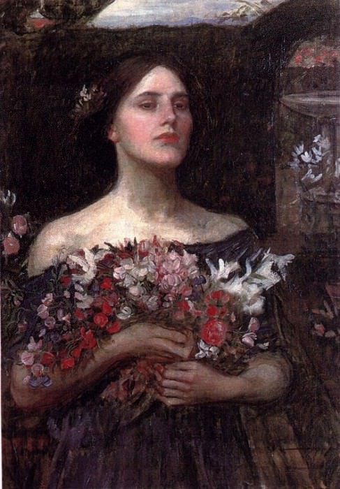 Gather Rosebuds. John William Waterhouse