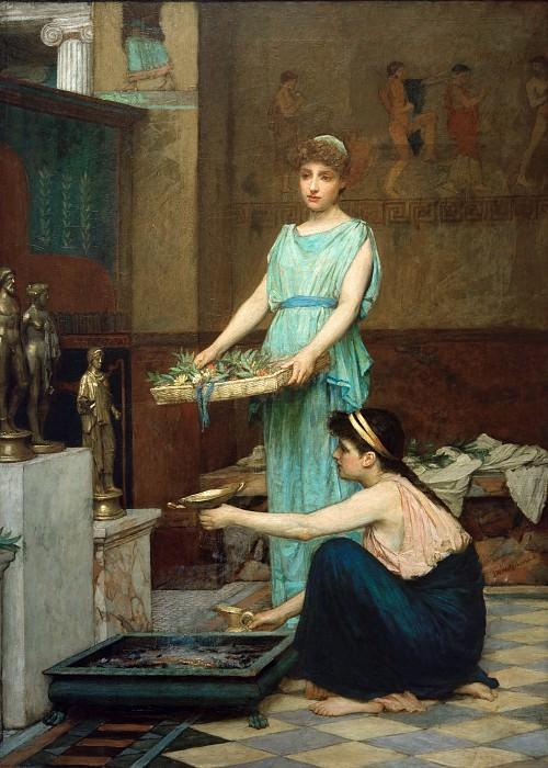The Household Gods. John William Waterhouse