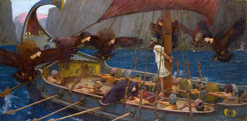 Ulysses and the Sirens. John William Waterhouse