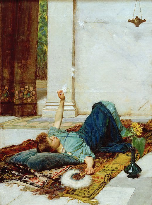 Il Dolce far niente. John William Waterhouse