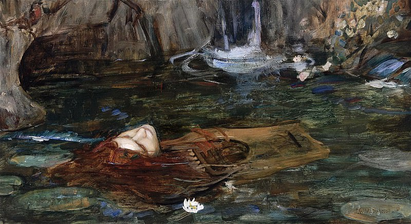 STUDY FOR NYMPHS FINDING THE HEAD OF ORPHEUS. John William Waterhouse