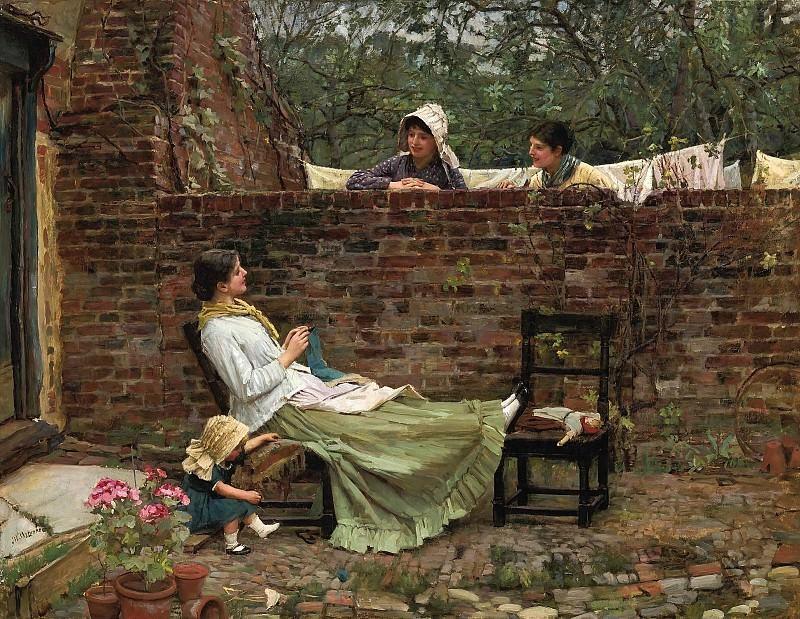 Gossip. John William Waterhouse