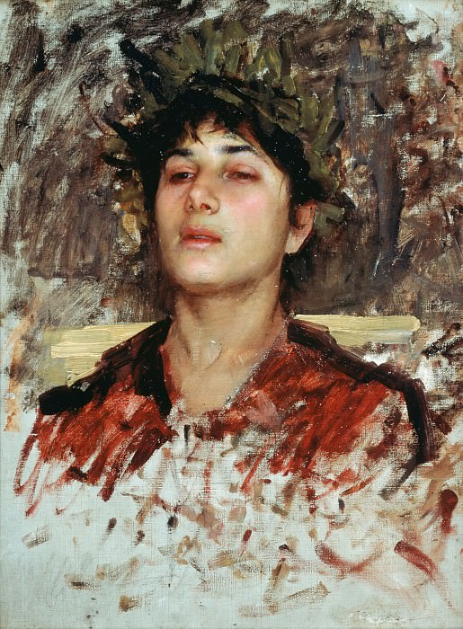 Head Study of a Corsican Boy. John William Waterhouse