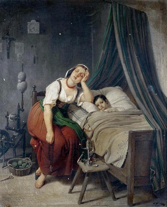 Заботливая мать. Теодор Леопольд Веллер