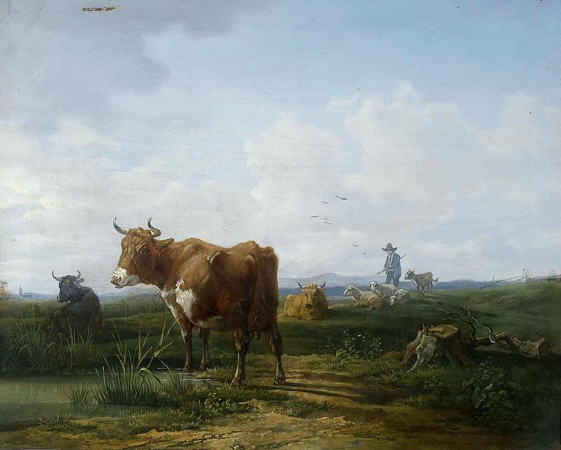 Коровы на пастбище. Макс Йозеф Вагенбауэр