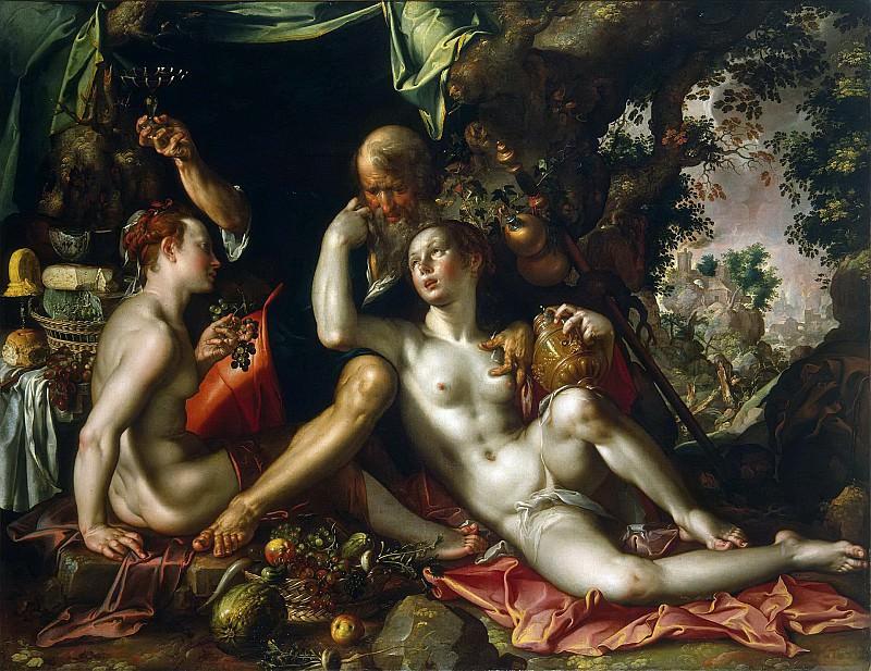 Lot and his Daughters. Joachim Wtewael