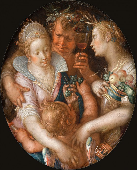 Without Ceres and Bacchus, Venus Grows Cold. Joachim Wtewael