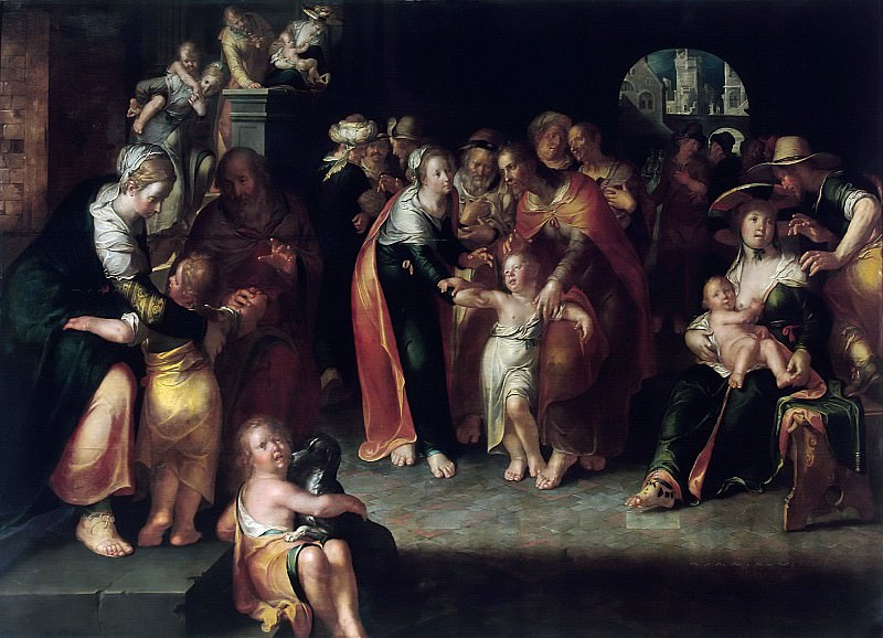 Christ with Children. Joachim Wtewael