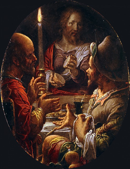 The Supper at Emmaus. Joachim Wtewael