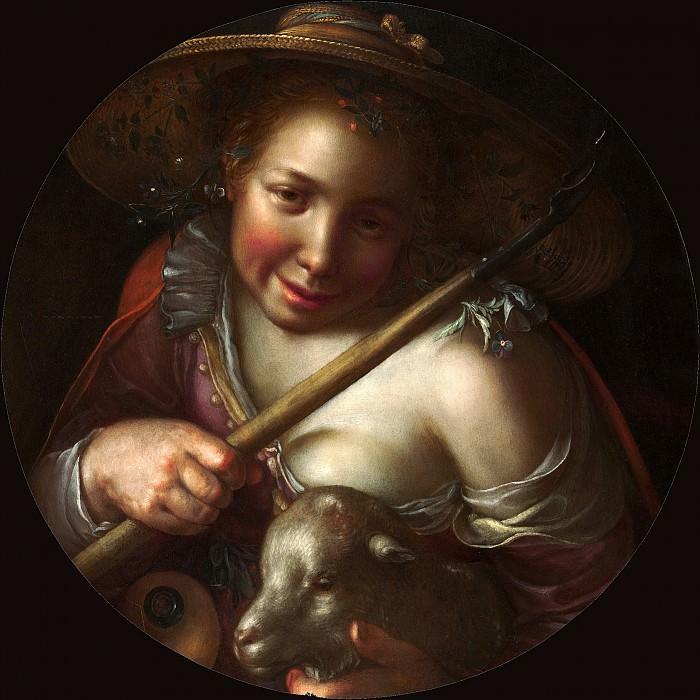 A Shepherdess. Joachim Wtewael