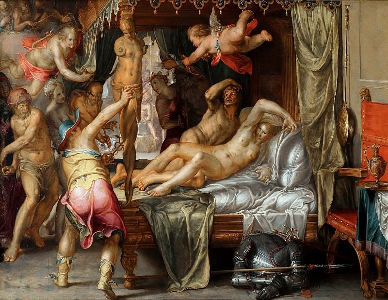 Mars and Venus surprised by Vulcan. Joachim Wtewael