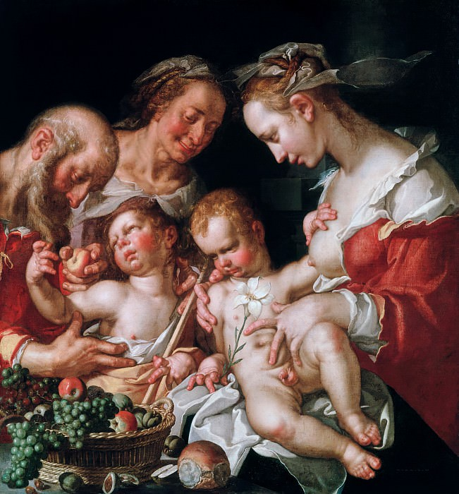 Святое Семейство с маленьким Иоанном Крестителем. Иоахим Эйтевал (Втевал)