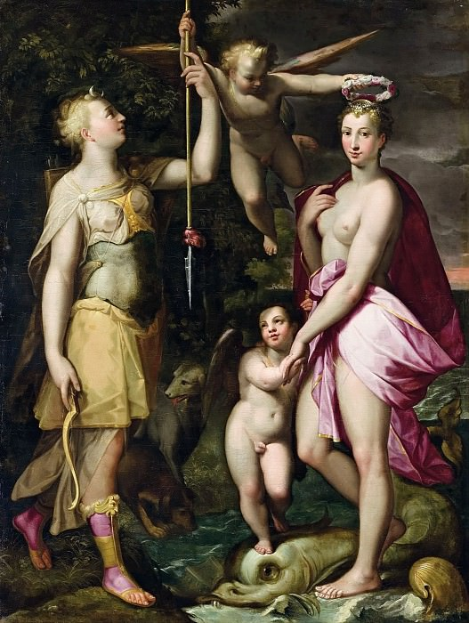 The Apotheosis of Venus and Diana. Joachim Wtewael
