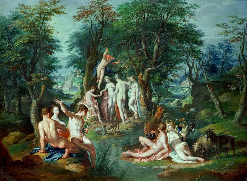 Judgement of Paris. Joachim Wtewael