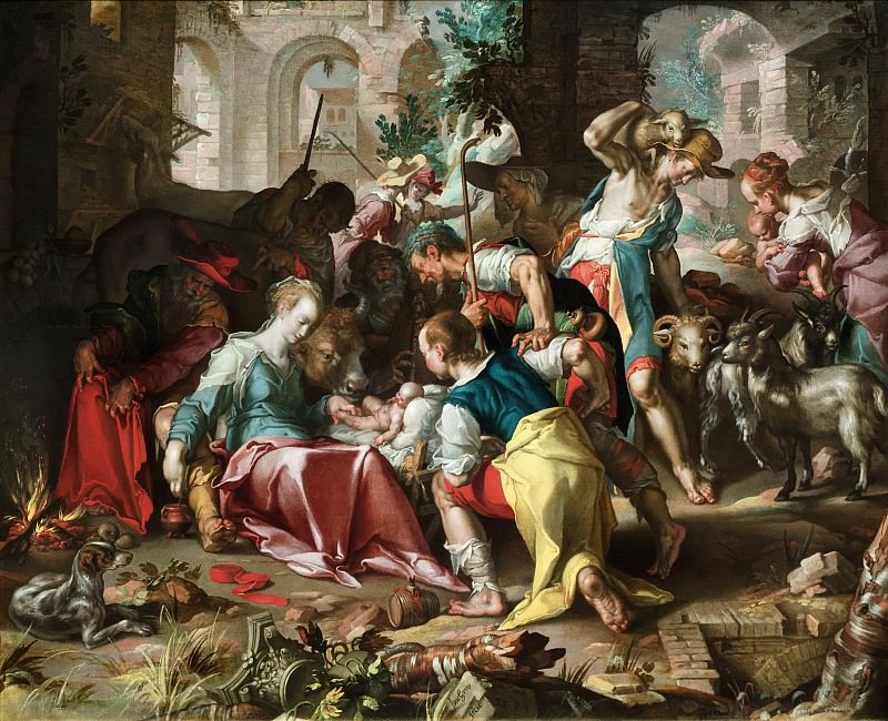 Adoration of the Shepherds. Joachim Wtewael
