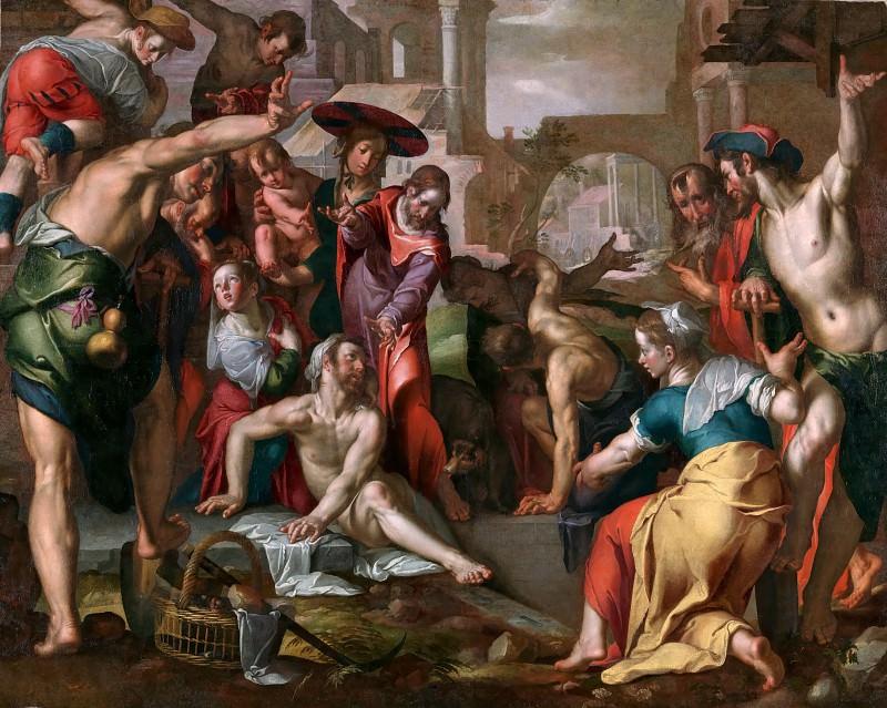 The Raising of Lazarus. Joachim Wtewael