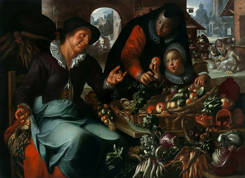 The fruit and vegetable seller. Joachim Wtewael