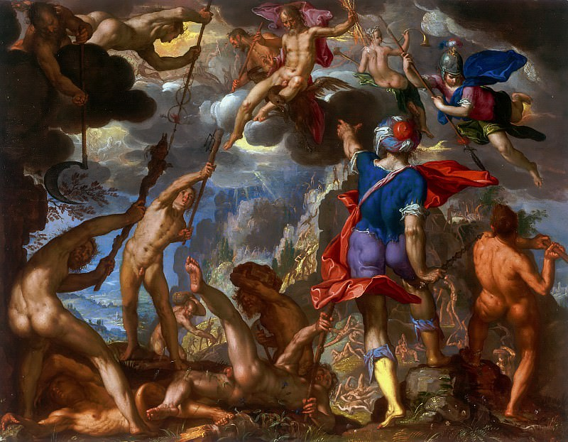 The Battle between the Gods and the Titans. Joachim Wtewael