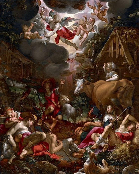 Annunciation to the Shepherds. Joachim Wtewael