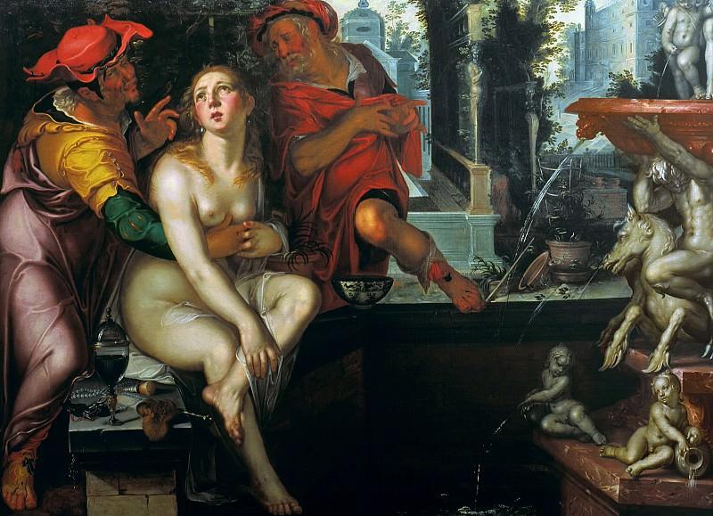 Susanna and the Elders. Joachim Wtewael