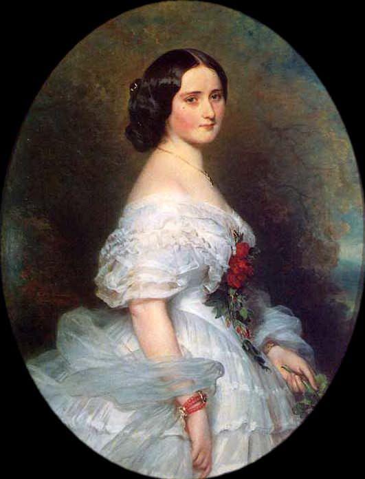Anna Dollfus, Baronness de Bourgoing. Franz Xavier Winterhalter