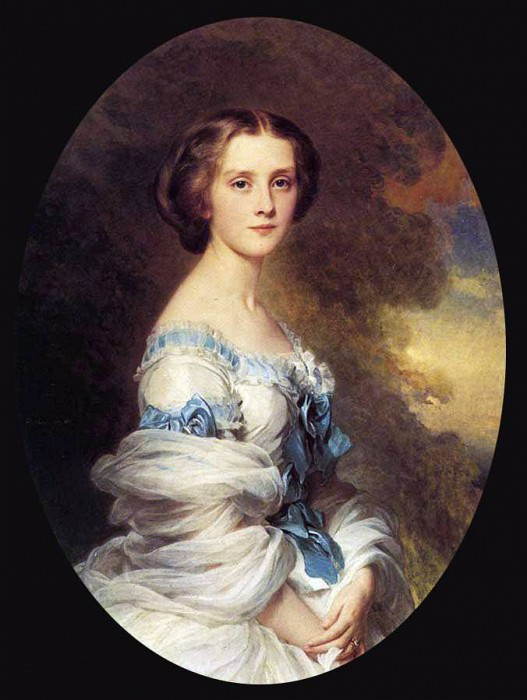 Melanie de Bussiere, Comtesse Edmond de Pourtales. Franz Xavier Winterhalter