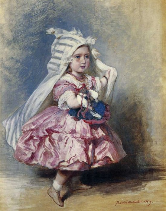 Princess Beatrice (1857-1944). Franz Xavier Winterhalter