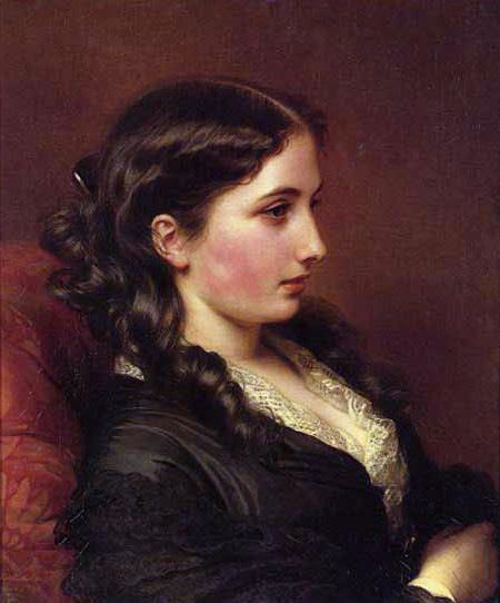 Girl in Profile. Franz Xavier Winterhalter