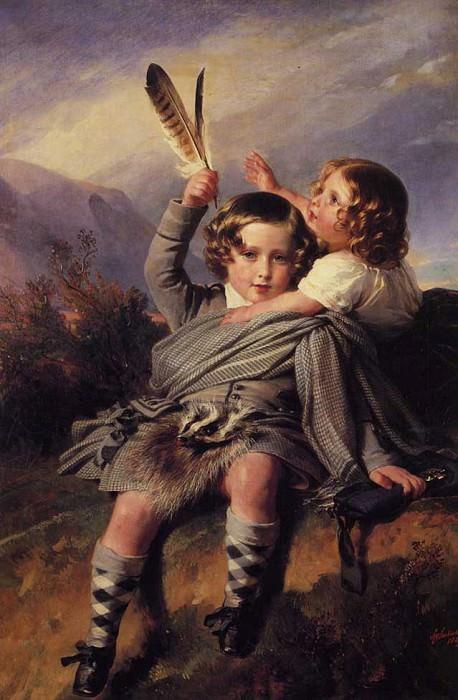 Prince Alfred and Princess Helena. Franz Xavier Winterhalter
