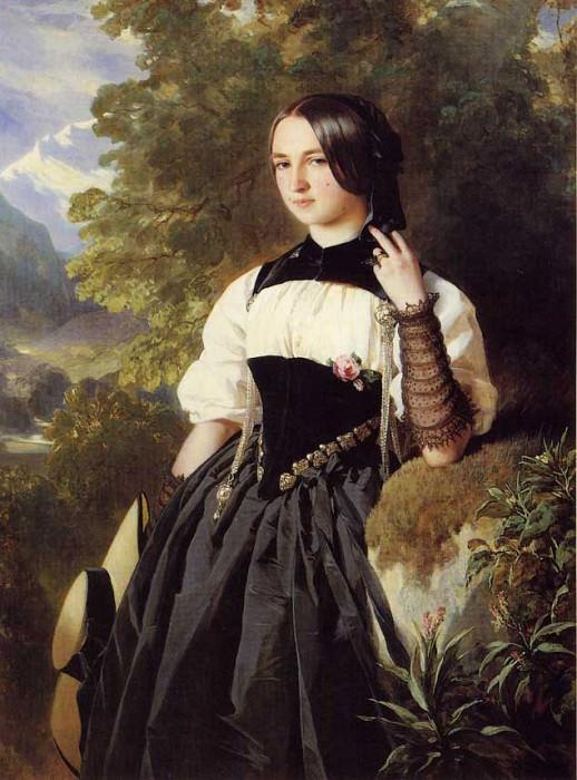 A Swiss Girl from Interlaken. Franz Xavier Winterhalter