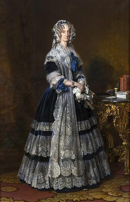 Marie-Amelie de Bourbon, reine des Francais. Franz Xavier Winterhalter