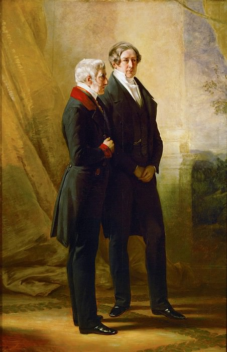 The Duke of Wellington and Sir Robert Peel, two prime ministers of Queen Victoria. Franz Xavier Winterhalter