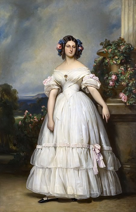 Marie-Clementine-Caroline d´Orleans, princesse de Saxe-Cobourg-Gotha (1817-1907). Franz Xavier Winterhalter