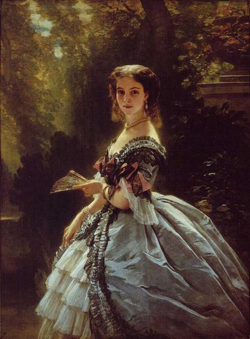 Princess Elizabeth Esperovna Troubetskoi. Franz Xavier Winterhalter